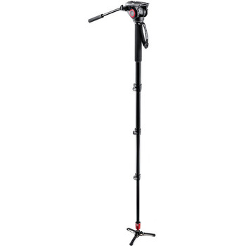 Rent Manfrotto 562B-1 Fluid Video Monopod + Manfrotto 502HD head