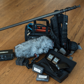 Rent Location Sound Kit- Sound Devices Mixer/recorder, 2 channels Lectrosonics wireless, Boom pole, Sennheiser 416 shotgun, sankan cos-11 lavs, ktek tactical bag and Harness, Blimp and wind Jammer