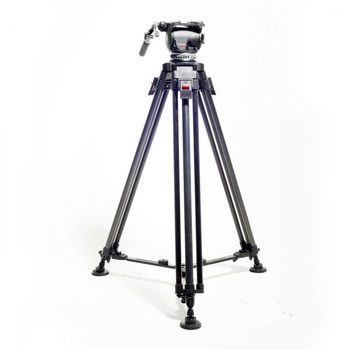 Rent Cartoni Focus HD Fluid Head Tripod with Manfrotto Carbon Fiber Legs