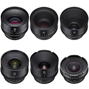 Rent Rokinon Set of 6 Rokinon Xeen Cine EF Lenses