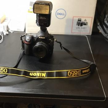 Rent Nikon D850 with a Nikon AF-S Nikkor 50mm 1:1.8G Lens and an NEEWER SpeedLite 750II  LED Flash