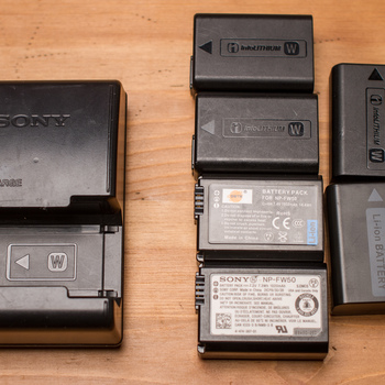 Rent Sony & 3rd Party NP-FW50 Batteries for A7 Series Cameras (w/ Charger)