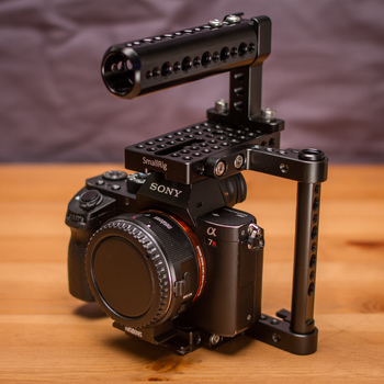 Rent Sony A7r II + Metabones EF Mount Adapter + Camera Cage
