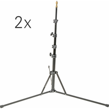 Rent Two Manfrotto 5001B Nano Light Stands - 6.2'
