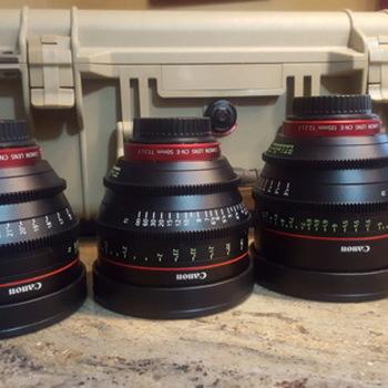 Rent 2 lens, EF mount, Cinema lens set