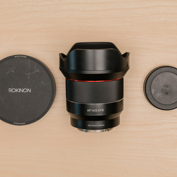 Rent Rokinon AF 14mm f2.8 FE for Sony E