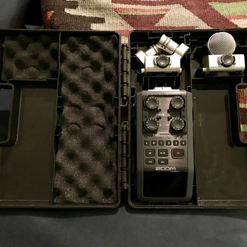 Rent Zoom H6 Portable Six-Track Audio Recorder with X/Y and MS Mic Capsules