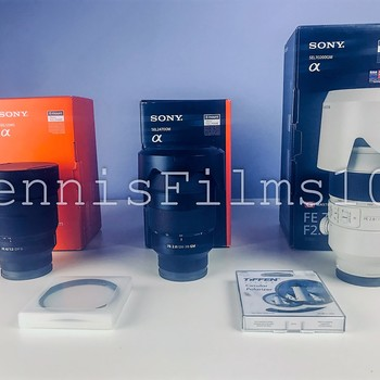 Rent Sony FE GM Lens Kit: 12-24 mm, • 24-70 mm • 70-200 mm.