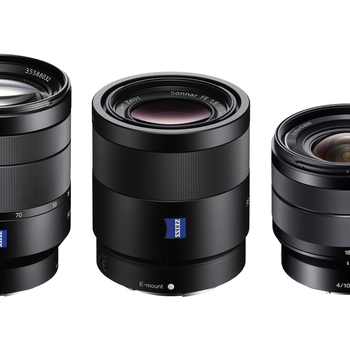 Rent Sony 10-18, 24-70, 55mm Lens Package