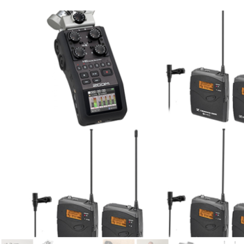 Rent H6 Zoom Recorder with 3 Wireless LAV Sennheiser LAVS