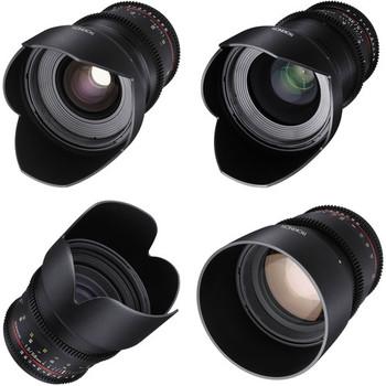 Rent Rokinon 24, 35, 50, 85mm T1.5 Cine DS Lens Bundle for Canon EF Mount