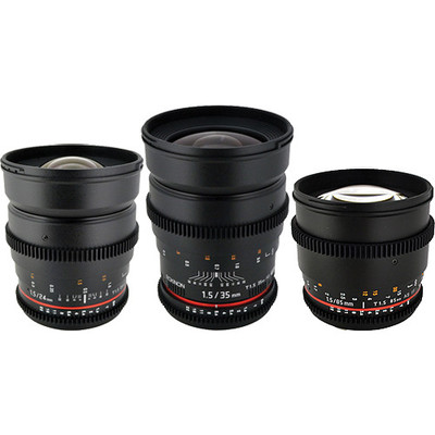 Rokinon canon lens set
