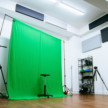 Rent Green Screen Backdrop w/ C-Stands