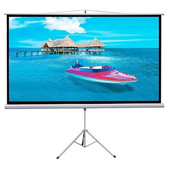 "Rent Gotobuy Projector 16:9 Projection Screen HD Adjustable Tripod Manual Pull-down 87"" x 49"" Portable Foldable Stand"