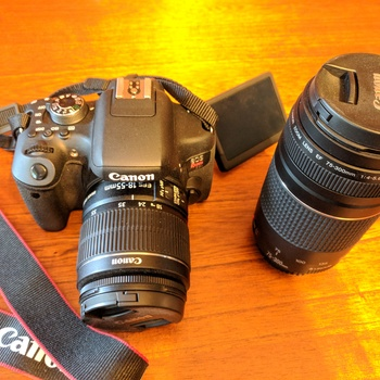 Rent Canon Rebel t6i with 18-55mm lens and 75-300mm lens