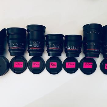 Rent Rokinon Cine DS Cinema Lens set - EF Mount