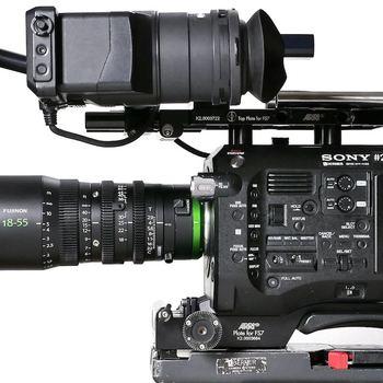 Rent Sony FS7 with Fujinon 18 to 55 Cine Zoom - Sachler Tripod + Sony Broadcast Audio Kit + Knova Slider
