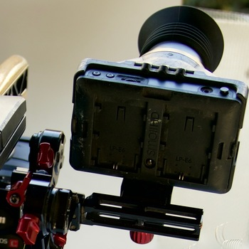 Rent Shoulder rig (Zacuto) and EVF (DP4) for Canon C300 and others