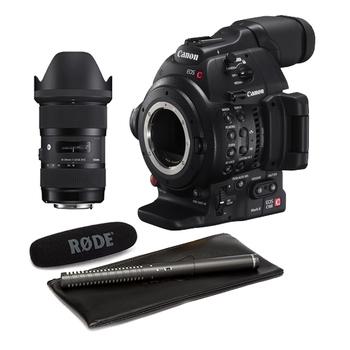 Rent Canon C100 Mark II w/ 18-35 Sigma, Mic