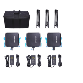 Rent Dracast LED500 S-Series Bi-Color 3-Light Kit with V-Mount Battery Plates and Soft Case
