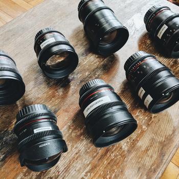 Rent Rokinon Cine DS (EF mount) T/1.5-3.8 Prime Lens Kit w/ Filters