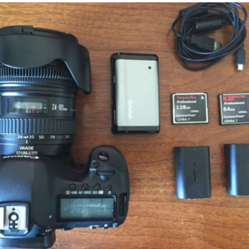 Rent Canon 5D Mk III + Charger + 2 Batteries + ML + 2 CF 128GB 64GB + 24-105 f4 IS L  + ND Var.