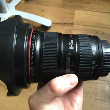 Rent Canon 16-35 2.8 wide angle dale full frame lens