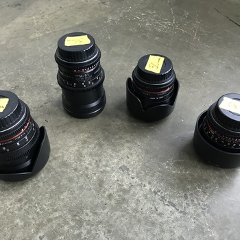 Rent Rokinon (4) CinePrime Set, 24mm, 35mm, 50mm, 85mm