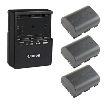 Rent Canon LC-E6 Charger With 3 Batteries