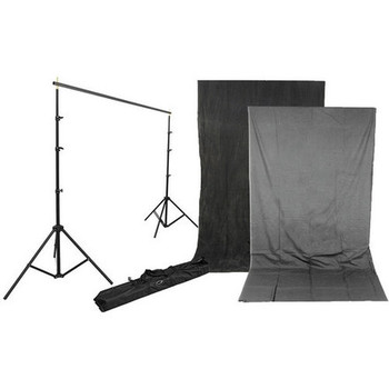Rent Background Kit With 10x12 Charcoal / Smoke Gray Reversible B