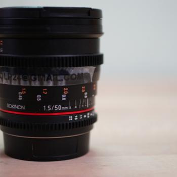 Rent Rokinon 50mm T1.5 High Speed Full Frame Lens