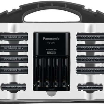 Rent Panasonic eneloop pro High Capacity Power Pack with advanced charger, 8 AA and 2 AAA NiMH Batteries