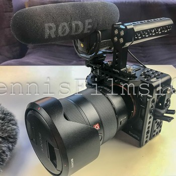 Rent Sony A7S II • SmallRig Cage • EF 24-70mm • f/2.8 Rode VideoMic Pro