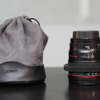 Rent Canon 24mm f1.4 L with Focus Gear Ring