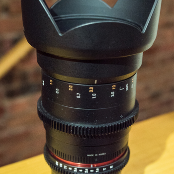 Rent Rokinon 35mm T1.5 Cine Lens for Sony E-Mount Cameras