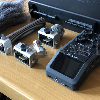 Rent Zoom H6 recorder - with shotgun and interchangeable microphone modules