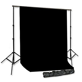 Rent 10' x 20' Black Muslin Background