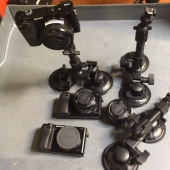Rent Sony a6300 THREE Camera Car Mount Kit