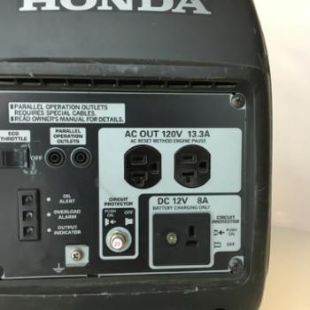 Rent Honda 2000 generator