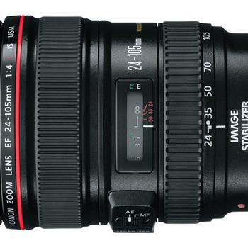 Rent Brand New Canon EF 24-105mm Lens w/ Cap.
