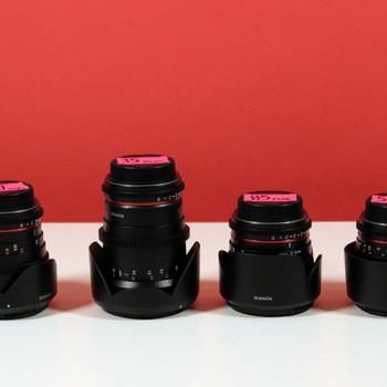 Rent Rokinon 20, 35, 50, 85mm Cine DS Lens Bundle (Canon EF Mount)