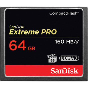 Rent (2) SanDisk 64GB Extreme Pro CF Card (160MB)