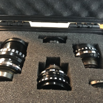 Rent Kiev 16u Vintage Lenses with Micro Four Thirds adapter: 12mm, 20mm, 50mm