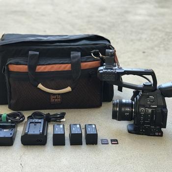 Rent Canon C100 Mark II w 24-105mm f/4L IS USM Lens, 3x Batteries