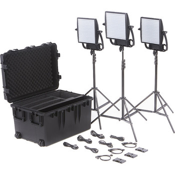 Rent Litepanels Astra 6X Traveler Bi-Color Trio 3-Light Kit Gold Mount