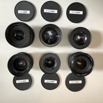 Rent Zeiss-Contax EF CineMod 6 lens set (21,28,35,50,85,100)