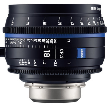 Rent Zeiss CP.3 18mm T2.9 Compact Prime Lens