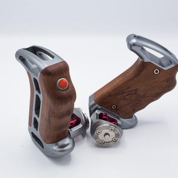 Rent TILTA Wooden side handles with Rosette mount and LANC triggr