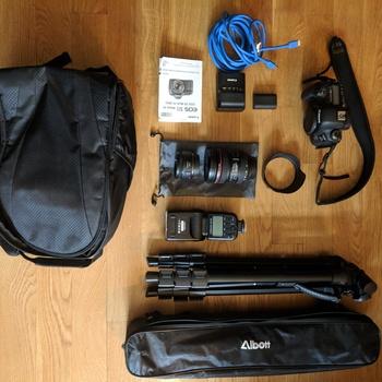 Rent CANON EOS 5D MARK IV CAMERA, 24-70mm + 50mm lens (+ EXTRAS) MINT COND.