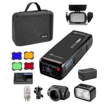 Rent Flashpoint eVOLV 200 TTL Pocket Flash with Barndoor Kit Built-in R2 2.4GHz Radio Remote System (Godox AD200)